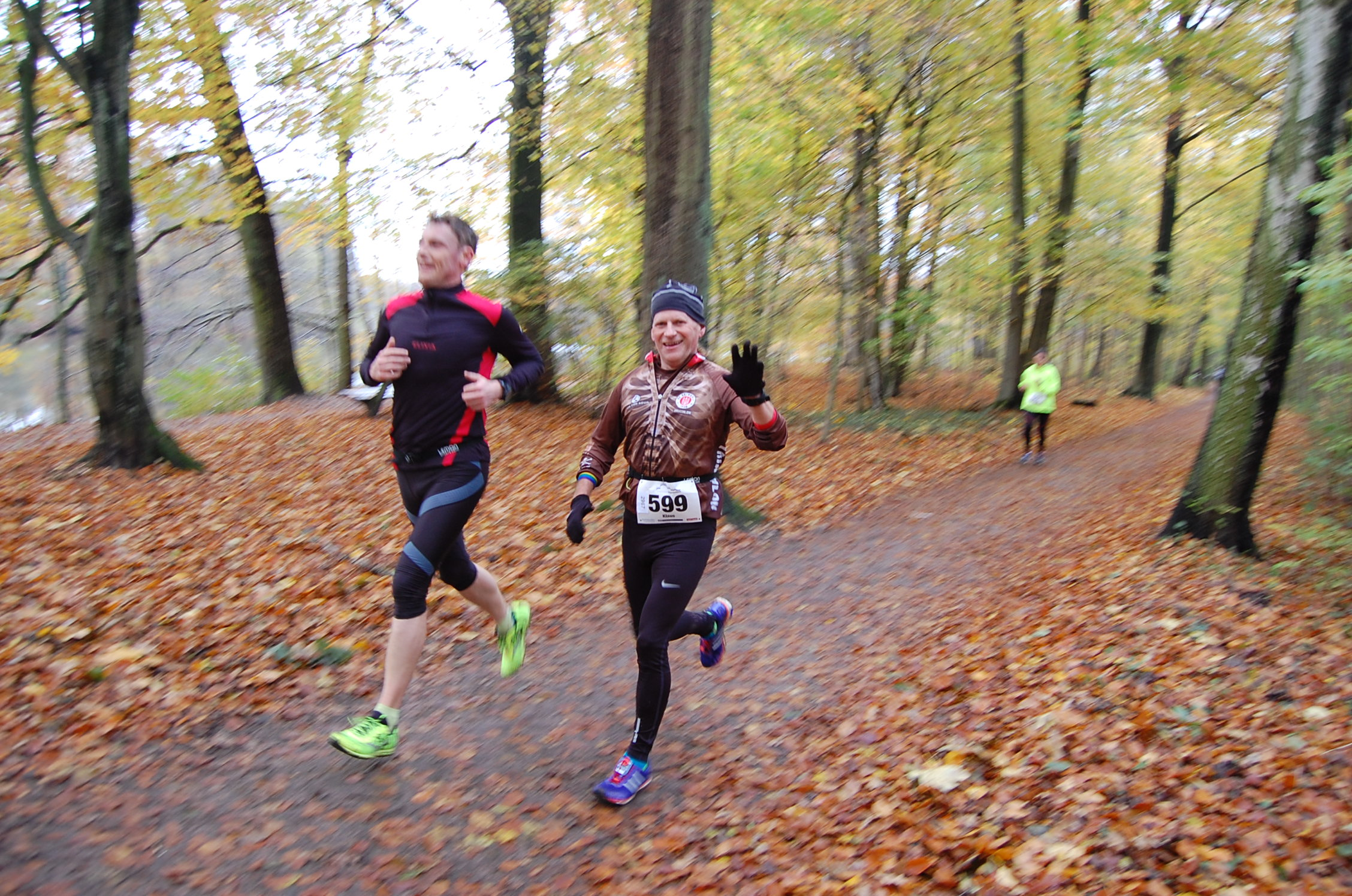 28. Bramfelder Winterlaufserie, 1. Lauf: Eindrücke von der Laufstrecke